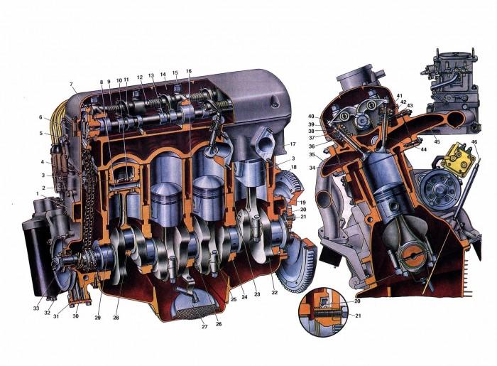 Верхняя крышка блока двигателя