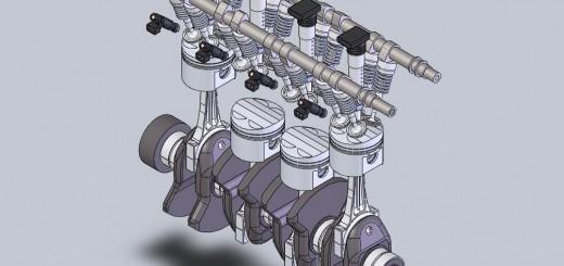 Механизм газораспределения двигателя