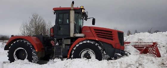К-744 на расчистке снега