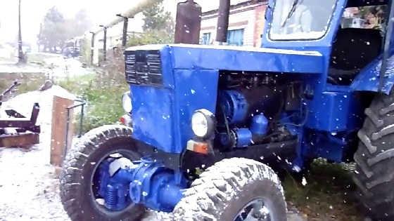 Запуск трактора Т-40