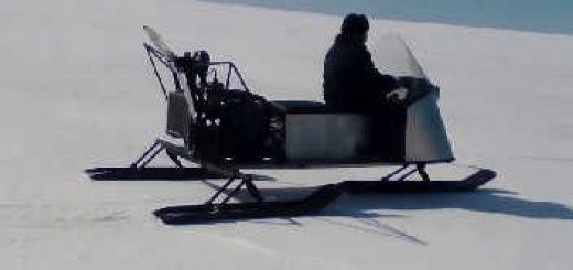 Аэросани с двигателем от ВАЗ-2109
