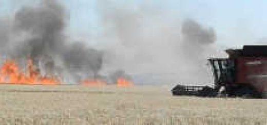Пожар на полях Германии