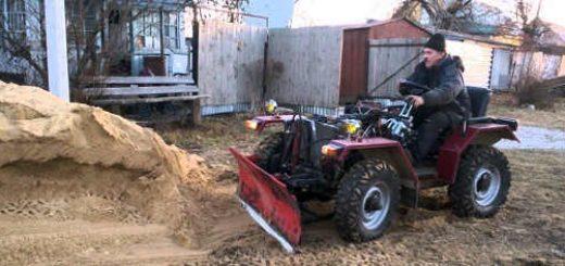 Самодельный полноприводный трактор 4x4