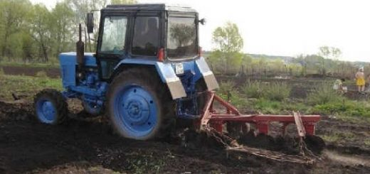 Жёсткая обработка почвы трактором МТЗ-80