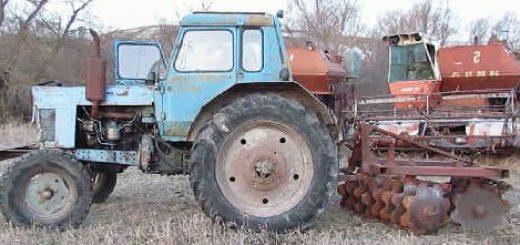 Навесил на МТЗ-80 самодельную ДИСКОВУЮ БОРОНУ