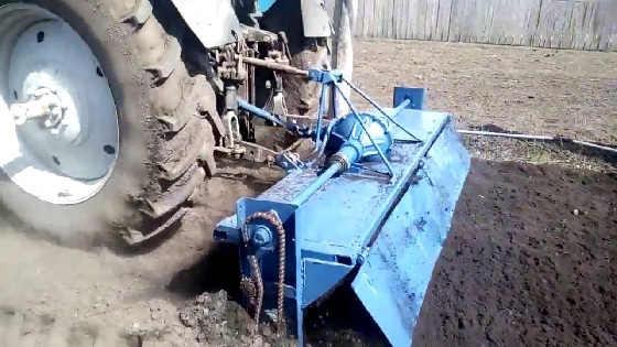 Самодельная почво-фреза 2.5м на МТЗ 1221
