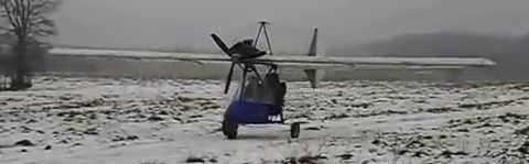 Самолёт с двигателем от мотоцикла