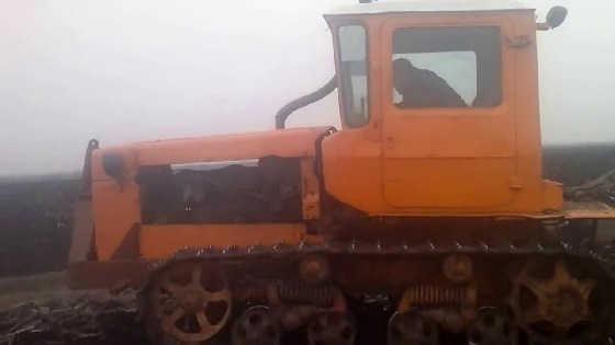 Второй запуск дт 75 с мотором ямз 236 после зимы