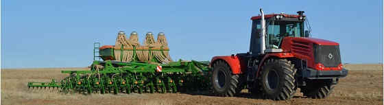 Буксировка К-744р4 трактором К-700а