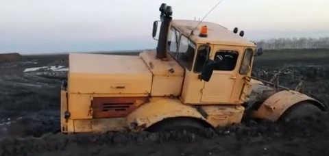 Трактор Кировец: гряземес