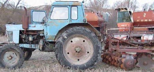 Самодельная ДИСКОВАЯ БОРОНА к МТЗ-80