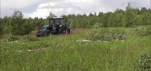 Очистка поля от березок