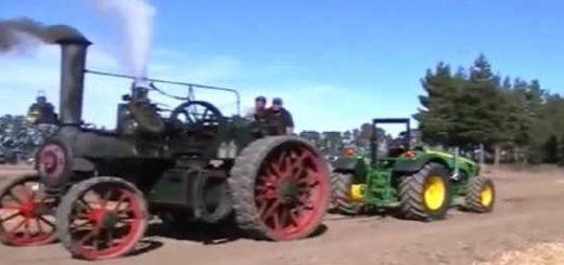 Паровой трактор 19 века