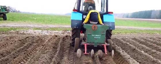 Механизированная посадка картофеля