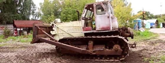 Заводим бульдозер Т-100