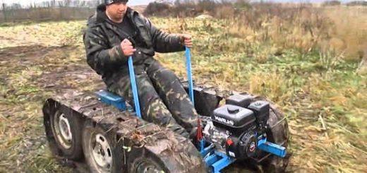 Отличный самодельный гусеничный трактор