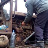 Заводим трактор С-100