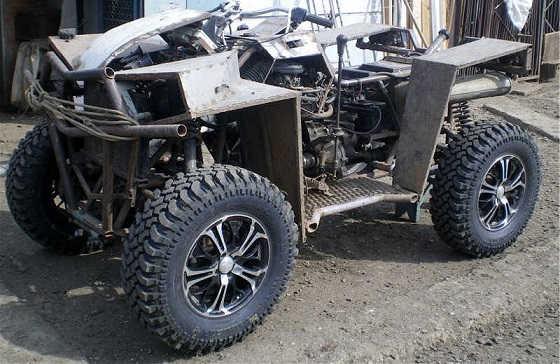 Квадроцикл с двигателем от ВАЗ-2108