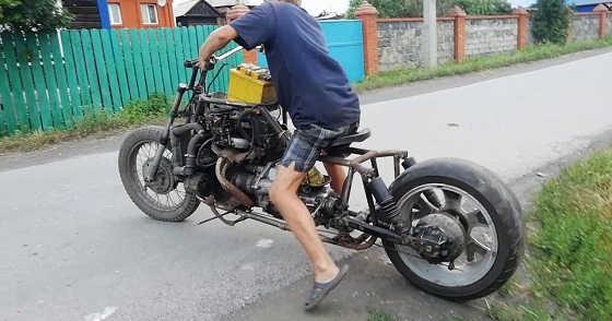 Мотоцикл с двигателем от ваз 2106