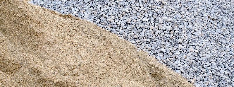 Щебень и песок