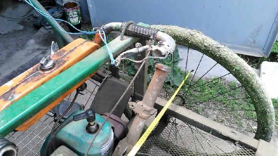 Роторная косилка из бензопилы
