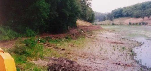 Бульдозер болотник и Драглайн чистят пруд