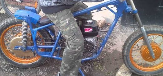 Мопед с двигателем от мотоблока