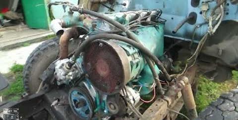 Двигатель от трактора Т-40 на Газ 3307