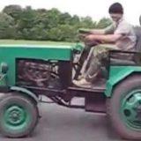 """Самодельный трактор с двигателем """"Москвич"""""""
