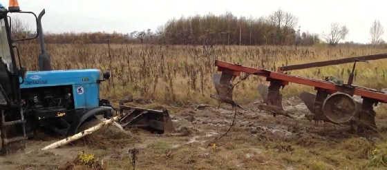 Трактор Беларус Застрял
