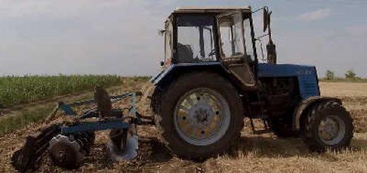 Дискование стерни озимой пшеницы
