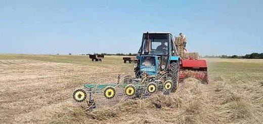 Гребём и пресуем сено