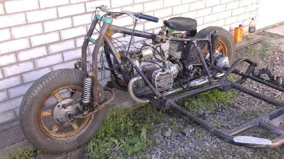 Мотоцикл из запчастей