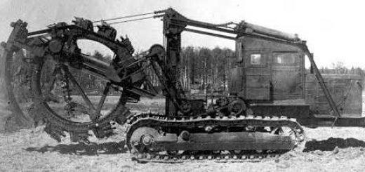Первые траншейно-цепные экскаваторы СССР