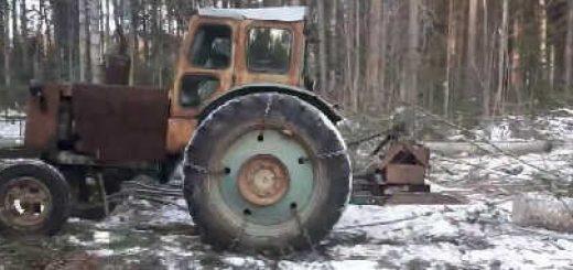 Т-40 и ЛТЗ-60 в лесу