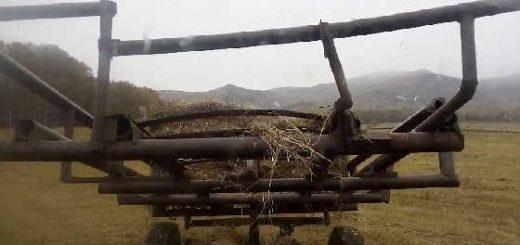 Самодельная телега для сена