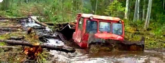 Гряземес на колесных и гусеничных тракторах