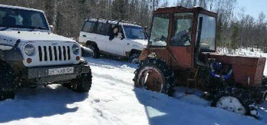 Турбо-трактор против внедорожника