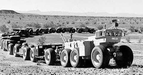 Автопоезд из 50х годов длинной 173 метра