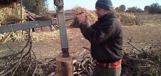 самодельный дровокол на пружине