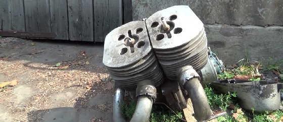 Необычный двигатель из металлоприёмки