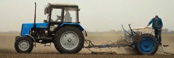 Посев пшеницы на МТЗ-892
