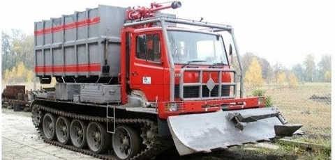 пожарный вездеход на базе танка Т55