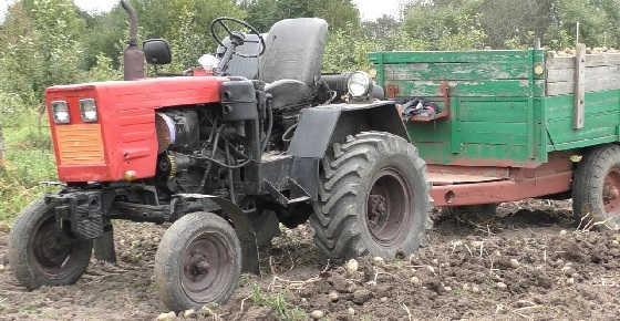Обзор самодельного трактора с двигателем Д-21