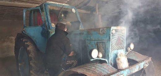 Запуск трактора МТЗ-80 Беларусь
