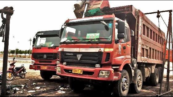 На каких грузовиках ездят в Китае