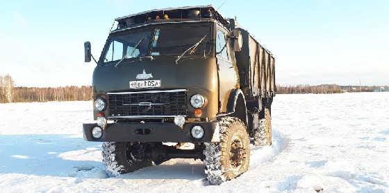 Запуск Маз-509 зимой