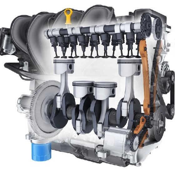 Датчики двигателя внутреннего сгорания в 3D