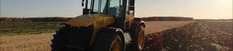 Обработка зяби на колёсном ДТ-75