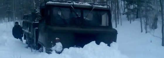 Газ-66 по снегу